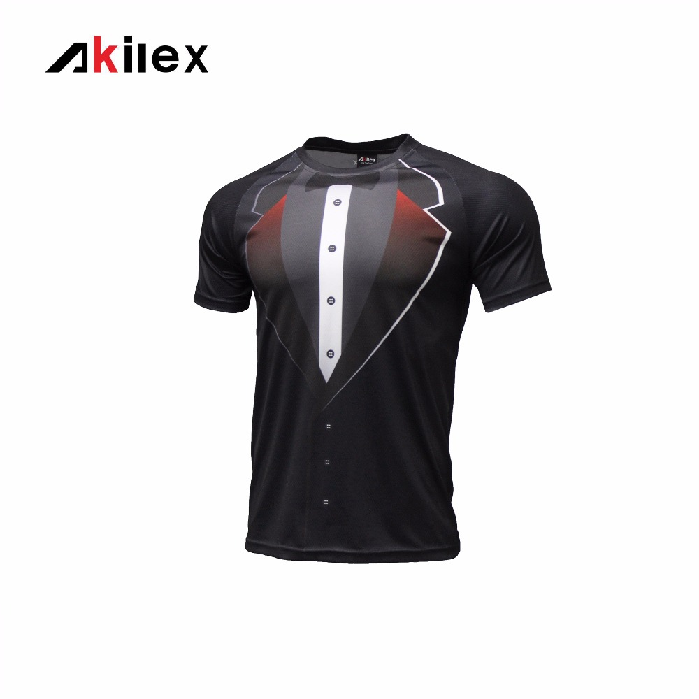 Akilex Men Gentleman Style Sublimate Transfer Functional Soccer Sport T-shirt(China (Mainland))