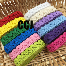 10yards Bilateral colored 100%pure cotton cotton cloth Cotton thread lace curtains sofa accessories diy handmade lace 15mm width