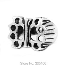 Free Shipping! New Design Boxing Glove Ring Stainless Steel Jewelry Butterfly Shape Knuckles Motor Biker Ring Wholesale SWR0437