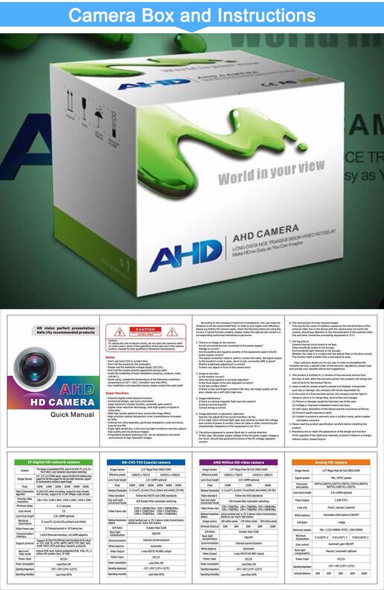 ahd camera box and instruction