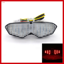 New Cool Motorcycle Flash LED Tail Light For Yamaha YZF R6 R6S Motorcycle Tail Brake Light