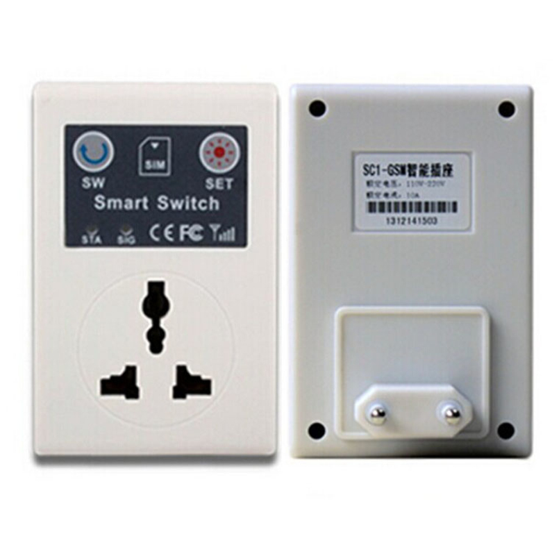 Top Grand Wireless 110V-220V 10A 50Hz Cellphone PDA GSM RC Remote Control Socket Power Smart Switch SC EU Plug<br><br>Aliexpress