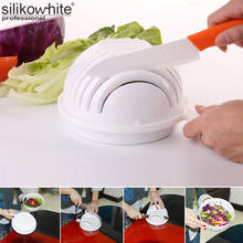 1Set Salad Cutting Bowl Maker Salad Easy Making Tool For Vegetables Fruit 60 Seconds Kitchen Tools Original Salad Bowl Tools(China)