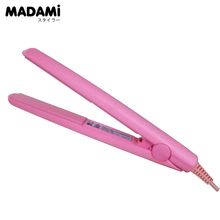 Madami Professional Mini Travel Ceramic Hair Straightener Electric Straightening Irons Pink Flat Iron Hair Styler Tool Hair Care(China)