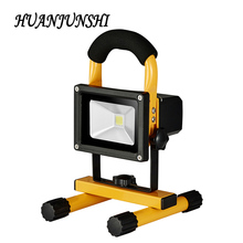 2017 Promotion New Flood Lights Rechargeable Led Floodlight Lithium-ion Battery10w Flood Lamp Portable Light IP65 AC85-265V 2pcs(China)