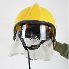 Free Shipping Can Resistant 300 Degree PEI Fire safety Fire Helmet