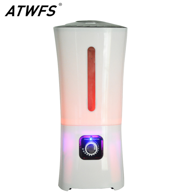ATWFS High Capacity 3.8L Air Humidifier Aroma Essential Oil Diffuser LED Aromatherapy Diffuser Ultrasonic Humidifier Mist Maker <br>