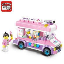ENLIGHTEN 213pcs ABS Building Blocks City Ice Cream Car Assembling Bricks DIY Brand Toys Kids Birthday Gifts(China)