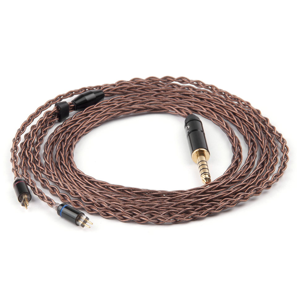 AK Newest LZ 8 Core 6N Upgraded Single Crystal Copper Cable 4.4/2.5/3.5mm Balanced Cable With MMCX/2Pin For KZ LZ Shure Sony