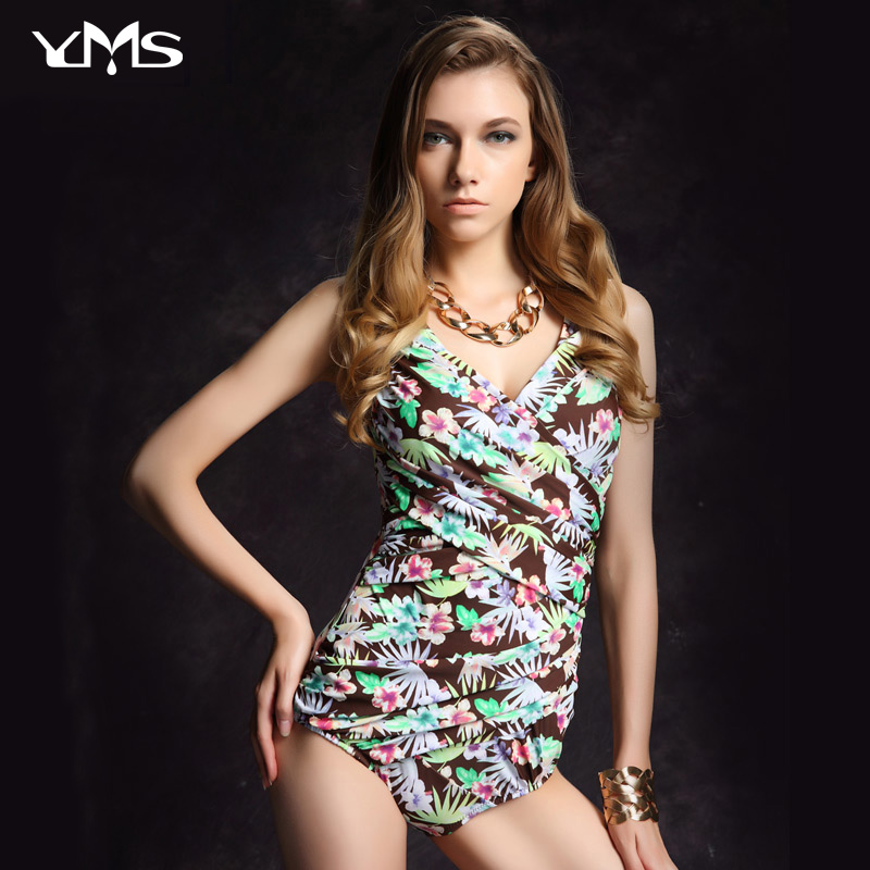YIMEISHAN One Piece Woman Swimwear 2017 Lady Swimsuit Bathing Suit fashionPrint Straps Beach Swimming Suit Swimsuit Monikini<br>