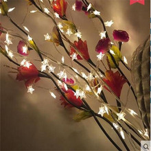20 LED Star Shape fairy String Lights Battery Operated LED Christmas lights for Outdoor Indoor Xmas wedding Party decoration(China)