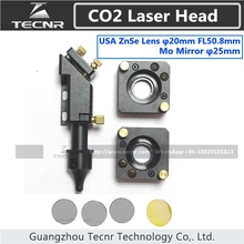 CO2 laser head set 20MM laser lens 25MM Mo reflect mirror mount for laser cutting machine