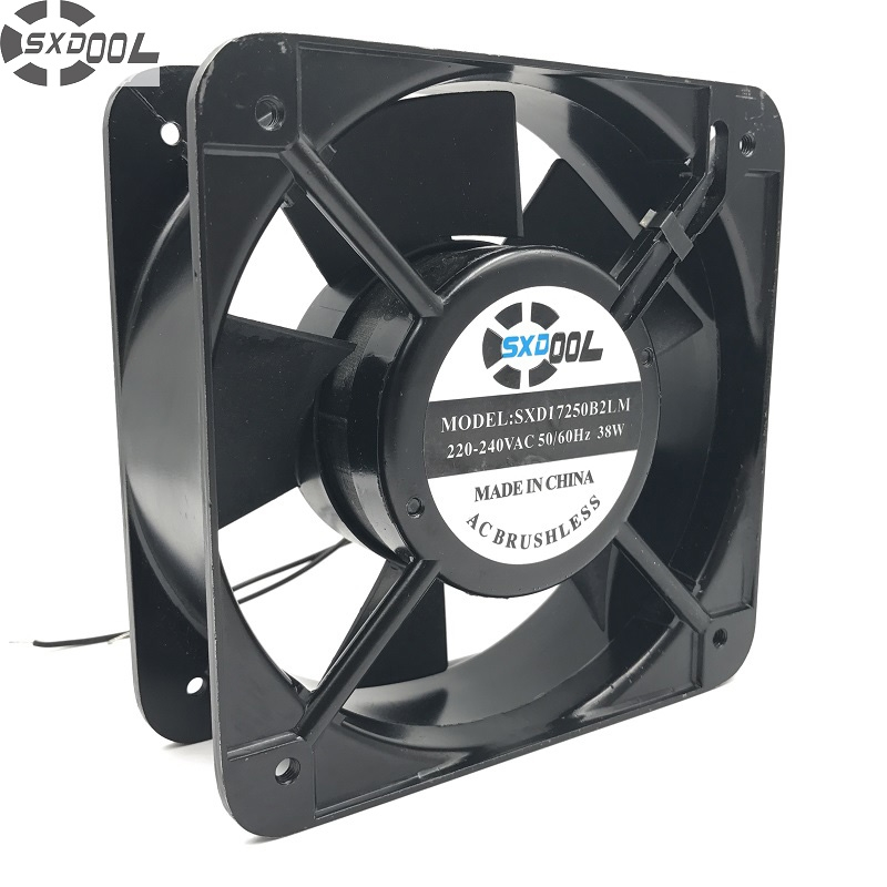 SXDOOL Industrial AC cooling fan 150*150*50mm 50/60HZ AC 220V 38W blower  aluminum frame dual ball bearing<br>