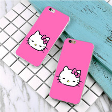 Hello Kitty design plastic case For Samsung Galaxy s3 s4 s5 s6 s7 edge phone cover for iphone 5s 5 5c SE 6 6s 7 plus 4 4s