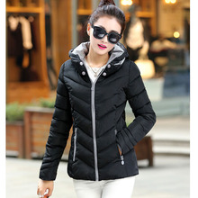 2018 autumn winter new Korean female thick coat fashion feather padded jacket women short paragraph Slim parkas 7349