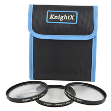 KnightX 49mm 52mm 62mm 55 Close up Macro +1 +2 +4 SLR Lens Filter Kit Set for Nikon D90 D3300 D3200 D5200 D5100 D7200 52mm lens