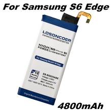 LOSONCOER 4800mAh Replacement EB-BG925ABE Battery For Samsung GALAXY S6 Edge Battery G9250 G925F G925FQ G925S Phone
