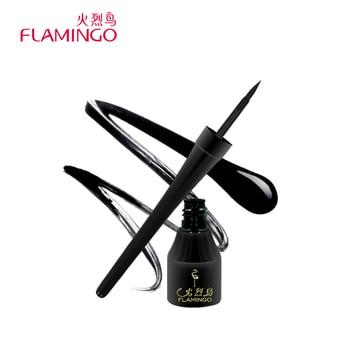 Livraison Gratuite Chine Top 1 Marque Flamingo Anti-floraison Longue durée Facile à Porter du Noir Naturel Liquide Sécurité Eyeliner 131