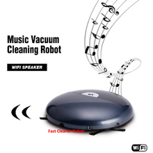 Smartphone WIFI APP Control Music Vacuum Cleaning Robot Aspiradora robot With Schedule,Auto Recharged,Schedule,Remote Control(China)