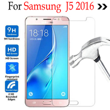 For Samsung Galaxy J5 2016 Tempered glass Screen Protector Cover On Samsung Galaxy J5 J510H J510M J510F Protective Film Case(China)