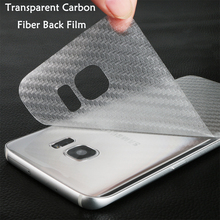 3D Transparent Carbon Fiber Back Film For Samsung Galaxy S5 A3 A5 A7 2016 note 3 4 5 Screen Protector Protective Guard