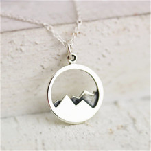 Daisies Gold/Silver Minimalist Mountain Top Pendant Mountain Necklace Hiking Outdoor Travel Jewelry Mountains Climbing Gifts(China)