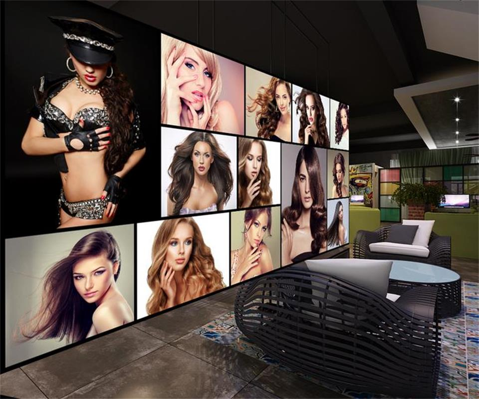 3d photo wallpaper custom mural sexy beauty painting beauty salon barber Shop sofa TV background non-woven wallpaper for wall 3d(China (Mainland))