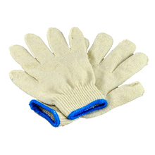 Free Shipping Cotton Safety Work Gloves Workplace Wear-resistant Gloves Coarse Yarn Gloves(China)