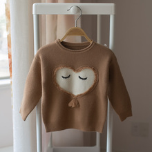 kids fashion sweater New 2018 children love sweater boys and girls baby fashion sweater()