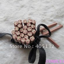 m-41 Free Shipping 100pcs 5mm Brown Cane Polymer Clay Cane Fancy Nail Art Polymer Clay Cane(China)