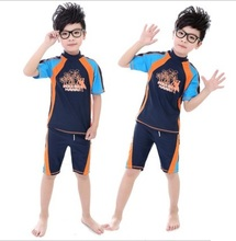 Children's Surf Clothes Swimwear Kids Swimming Wear Performance Costume Little Boy Bathing Suit Boy Rash Guards Swimming Suit(China)