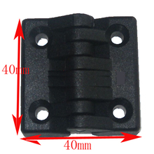 nylon Closet Cabinet Door Butt Hinge Black 40*40mm hinge for co2 laser engraving and cutting machine