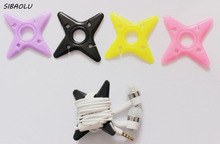 10 Pcs/set Cute Darts Star Cable Winder Earphone Organizer Wrap Headphone Wire Holder Organizer Cable Tie Manager For Headset(China)