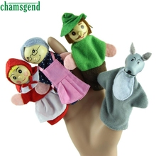 CHAMSGEND Finger Puppets PCS Little Red Riding Hood Christmas Gifts Baby Educational Toy Jan Best seller S10