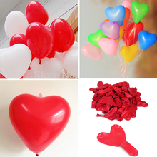 10pcs/lot Romantic Heart Shaped Love Latex balloons New Year Helium Balloons Wedding Party Valentines Day Inflatable Balls