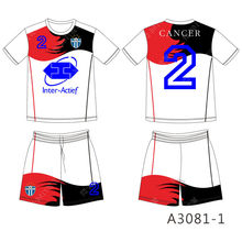 2016 New Design Men's Breathable Football uniforms custom(China)