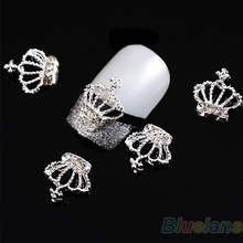 10 x 3D Alloy Rhinestones Crown Nail Art Tips Glitters Beads DIY Decorations 0312 4AOB