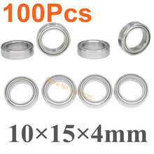 100pcs Ball Bearings 10x15x4mm For 1/10 Traxxas HPI Associated Tamiya Kyosho Axial Redcat HSP Himoto Atomic RC Car Replacement