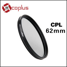 Mcoplus Genuine Green.L Filter 62mm 62 mm Circular Polarizing C-PL CPL Filter Lens (Transparent) For DSLR Camera Camcorder