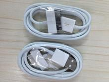 High quality USB date Sync Charger Cable charging cables for iPad 2 3 for iPhone 4S/4 3GS ipod 10pcs/lot(China)