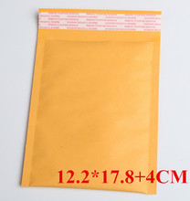 50pcs/LOT 122x218mm Small Manufacturer Kraft bags bubble mailers padded envelopes paper mailer MAILING bag 12.2*17.8+4cm