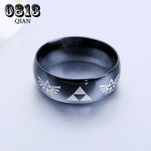 The Lengend of Zelda Ring Triangle Logo For Men Stainless Steel Rings Size MB