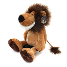 "1pcs 10"" 25cm Popular NICI Lion Stuffed Doll Plush Jungle Series Animal TOYS Free Shipping Best Christmas Gift For Kids(China)"