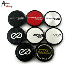 Rhino Tuning 4PC 51mm Enkei Work Emotion Advan Racing Volk Rays Racing Car Wheel Center Centre Hub Cap Auto Styling Emblem 761(China)