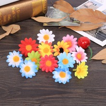 11 Colors 100PCS Artificial Gerbera Daisy Fabric Flower Head Wedding Party DIY Decoration Craft Decorative Flowers & Wreaths(China)