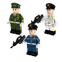 Single sale Honor Guard Ground Air Force Navy SWAT Soldier Military Gun Building Blocks Sets Models Bricks Toys