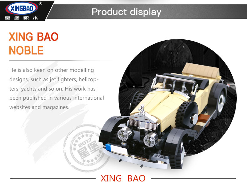XINGBAO XB-03007 Noble Rolls Royce Silver Ghost Building Block 29