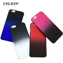 Buy USLION Phone Cases Apple iPhone 6 6s Plus Colorful Gradient Chand Color Frosted Hard Matte PC Back Cover Case Capa Coque for $1.29 in AliExpress store