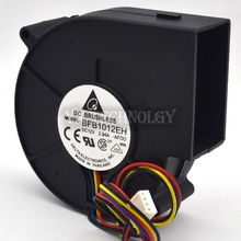 BFB1012EH 9733 12V 2.94A  9cm 4wire double ball air fan centrifugal turbine blower  9cm 4wire