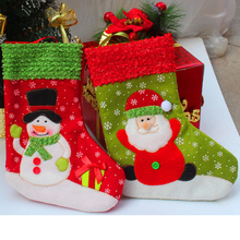 New Christmas Socks Santa Claus Snowman Toys Candy Gift Bag Xmas Tree Decor Christmas Decorations Festival Party Ornament Kerst